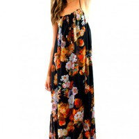 Corsica maxi in black floral  | Show Pony Fashion online shopping