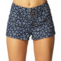 Ditsty Floral Denim Shorts