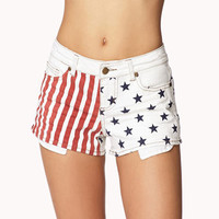 Stars & Stripes Denim Cutoffs | FOREVER 21 - 2011409927