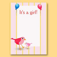It's A Girl Gift Tag Business Cards from Zazzle.com