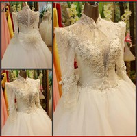 YZ New Arrival Gorgeous Luxurious Swarovski Crystals Bridal Wedding Dress FXVF