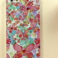 New Bling Crystal Butterflies iPhone 5 Case Design #1