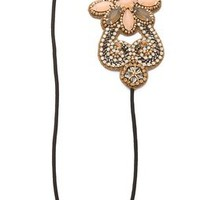 Deepa Gurnani Crystal Flower Applique Headband | SHOPBOP