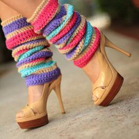 Leg Warmers - Colorful Fashion Stripes
