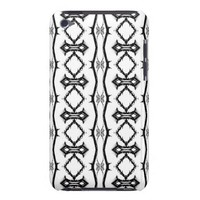 Black and White Geometric Striped iPod Touch Case from Zazzle.com
