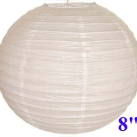 "White Chinese/Japanese Paper Lantern/Lamp 8"" Diameter - Just Artifacts Brand:Amazon:Home Improvement"