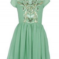 Mint Green Sequin Prom Dress | Dresses | Desire