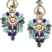 Etro | Crystal and stone clip earrings | NET-A-PORTER.COM