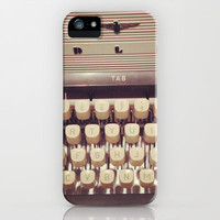typewriter iPhone & iPod Case by Marianna Tankelevich