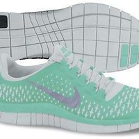 Nike Lady Free 3.0 V4 Running Shoes - 10 - Green