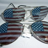 American Flag Aviator Sunglasses Glasses 2:Amazon:Everything Else
