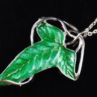 Amazon.com: Lotr Elven Leaves Green Enameled Brooch or Pendant 2 Version Choice: Toys & Games