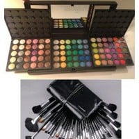 Amazon.com: Mac Professional 180 Color Eye Shadow Eyeshadow Palette and 32 piece Brush kit, Makeup, Mascara: Everything Else