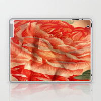 Pink Flower Print Laptop & iPad Skin by Rhiannon
