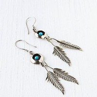 Free People Stone And Feather Drop Earring