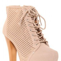 Perforated Suede Booties - Footwear