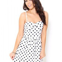 Polka Dot Corset Dress - Dresses
