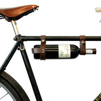 Bicycle Wine Rack Leather