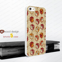 Illustration flowers iphone case  Rubber case iphone 4 case iphone 4s case Hard case Iphone 5 case