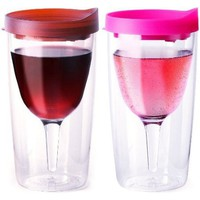 Double Wall Insulated Acrylic Wine Tumblers