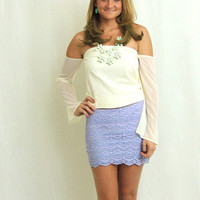 Kiss Me Lace Skirt - Lilac...Follow me for more:)