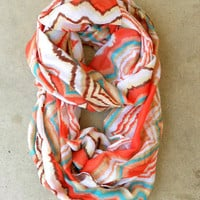 Zig Zag Loop Scarf [3936] - $12.80 : Vintage Inspired Clothing & Affordable Summer Frocks, deloom | Modern. Vintage. Crafted.