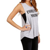 Heather Gray Forever Young Graphic Tee