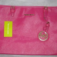 Jet Set Saffiano Travel Tote Purse from Affordable Celebrity Fashions