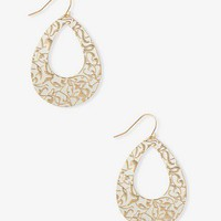 Painted Etched Teardrop Earrings | FOREVER 21 - 1030187985