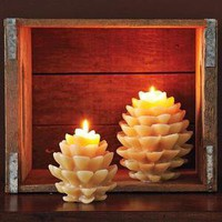Pinecone Candle | west elm