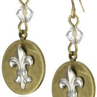 Sisi Amber Fleur de Lis Symbol Earrings