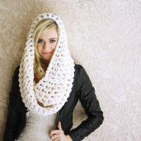 the OVERSIZED EGO scarf / color WHITE by topherco on Etsy