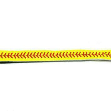 Leather Softball Seam Headband (Yellow with Red Seam):Amazon:Sports & Outdoors
