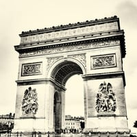 Vintage Paris print of Arc de Triomphe Art Print by spacebacon