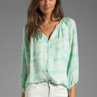 Shoshanna Renee Blouse in Pistachio from REVOLVEclothing.com
