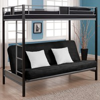 Dorel Home Products Silver Screen Twin/Futon Bunk Bed