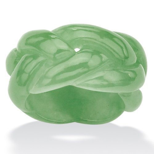 Green Jade Braided Eternity Band