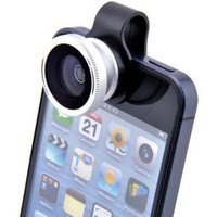 Clip-on Fish Eye fisheye Lens Photo Kit For iPhone 4 4G 4S 5 Galaxy S2 S3