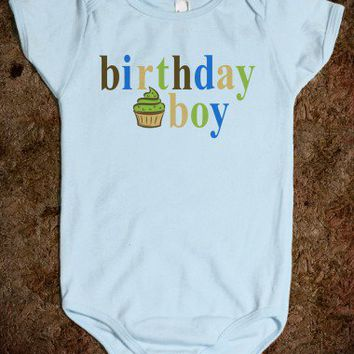 BIRTHDAY BOY - baby boy onsie - underlinedesigns
