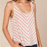 Women's Tanks | Zion Striped Pocket Tank | Alternative Apparel