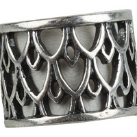 Lucky Brand Silver Openwork Band Ring
