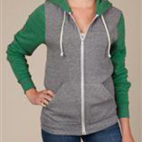 Women's Hoodies | Color-Block Rocky Zip Hoodie | Alternative Apparel