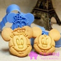 Mickey and Minnie Mouse 3D Cookie Cutter Stamp Set