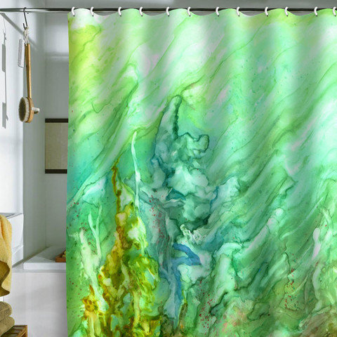 Rosie Brown Green Coral Shower Curtain From DENY Designs
