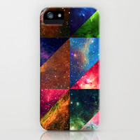Space quilt iPhone & iPod Case by def29