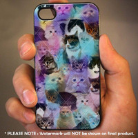 Cute Cats Kitten - for iPhone 4 case iphone 4S case iPhone 5 Case iphone 4/4s/5 Case Hard Cover