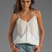 BCBGMAXAZRIA Lace Cami in White from REVOLVEclothing.com