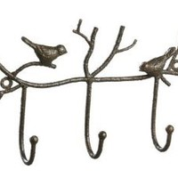 Amazon.com: Shabby Cottage Chic Iron Bird Wall Hook Home Decor: Home & Kitchen