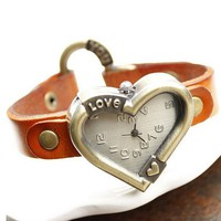 Love Me Heart Shaped Women's Leather Wrist Watch - Watches - Accessories - Women Free Shipping