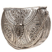 Premium Silver Mini Ornate Metal Satchel - Bags & Purses - Accessories - Topshop USA